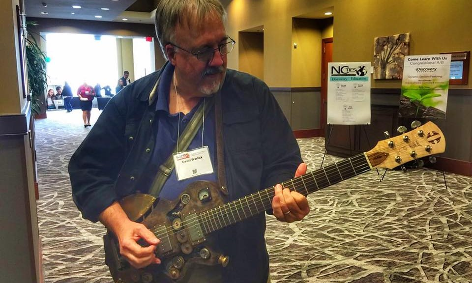 My friend, Kevin Honeycutt, had this guitar made in a steampunk fashion